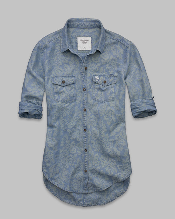 Womens Tristen Chambray Denim Shirt