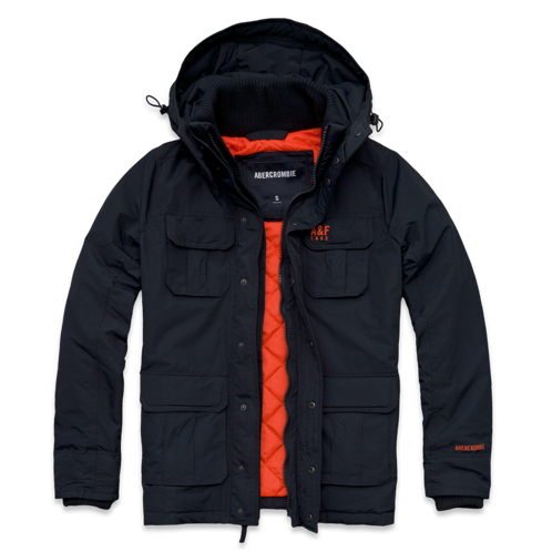 Mens A&F All-Season Weather Warrior Parka