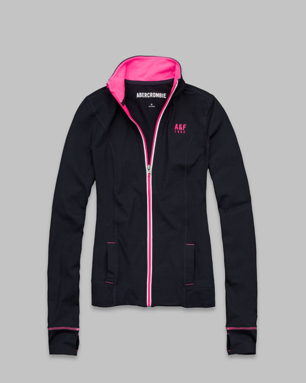 Womens A&F Active Full-Zip