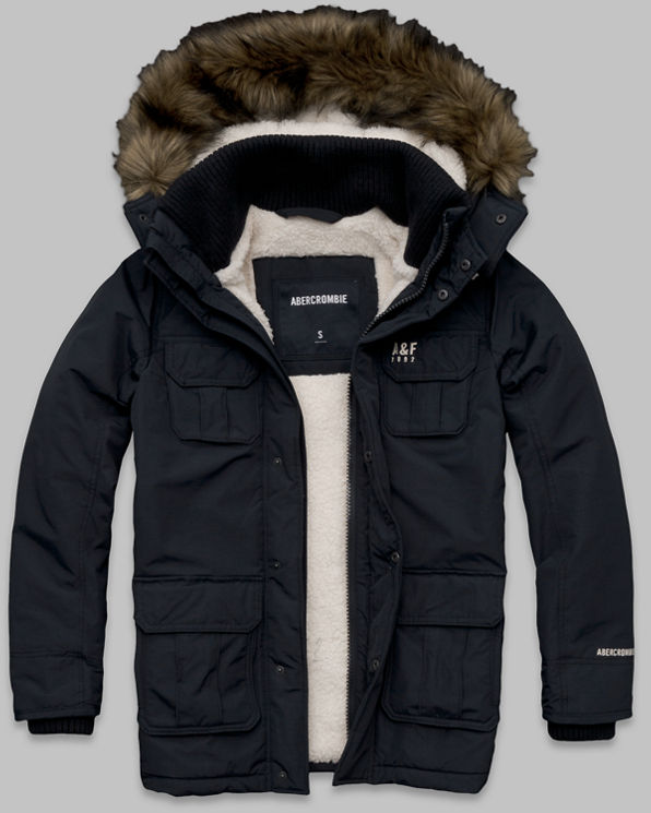 Mens A&F All Season Weather Warrior Parka