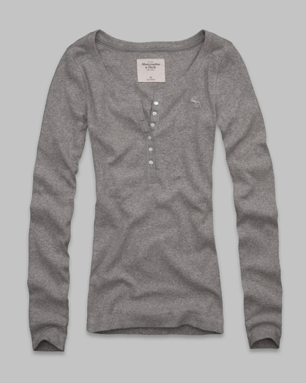 Annabel Ribbed Henley Annabel Ribbed Henley