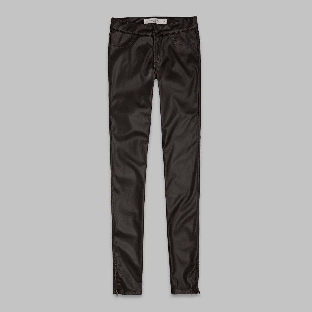A&F Mid Rise Vegan Leather Jeggings