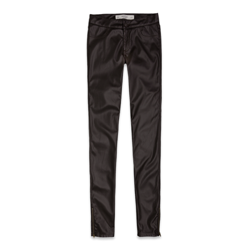 Featured Items A&F Mid Rise Vegan Leather Jeggings