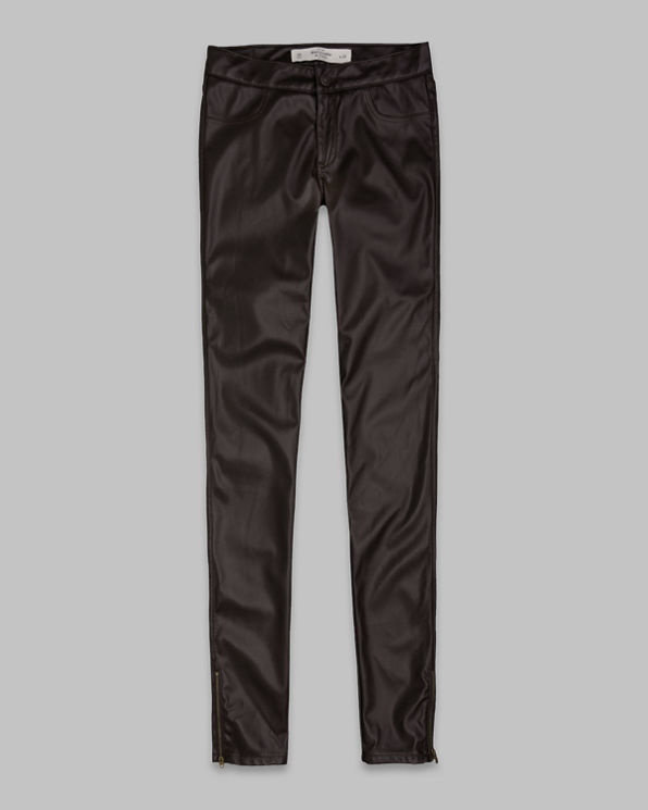 A&F Mid Rise Vegan Leather Jeggings A&F Mid Rise Vegan Leather Jeggings