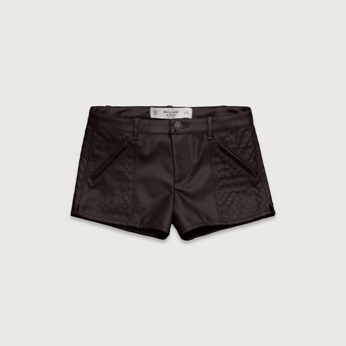 A&F Vegan Leather Shorts