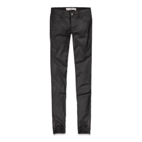 Featured Items A&F Mid Rise Suede Jeggings