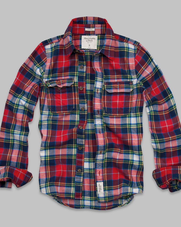 Mens Railroad Notch Flannel Shirt