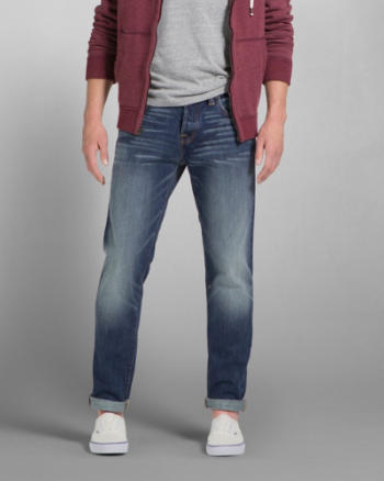 ANF A&F Classic Taper Button Fly Jeans
