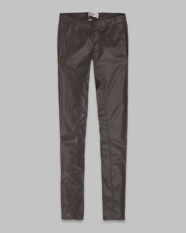 A&F Mid Rise Vegan Leather Leggings A&F Mid Rise Vegan Leather Leggings