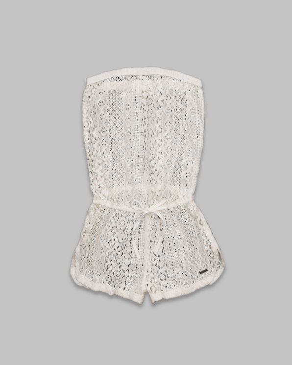 ANF Zoe Sheer Lace Romper