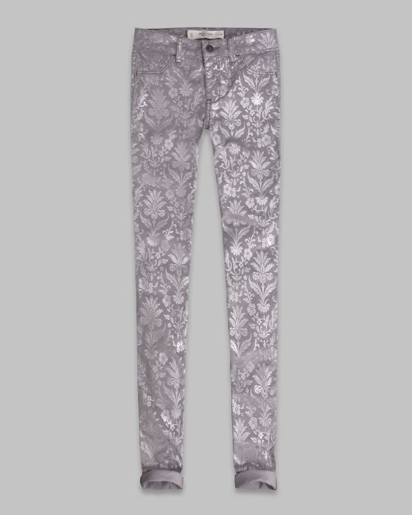 Womens A&F Mid Rise Jeggings