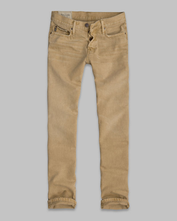 Mens A&F Slim Straight Pants