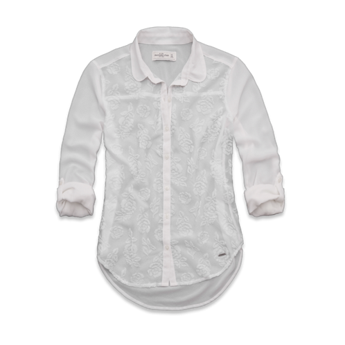 Womens Leigh Velvet Burnout Shirt