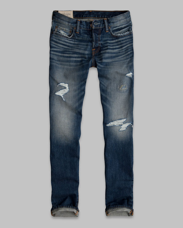 ANF A&F Slim Straight Button Fly Jeans