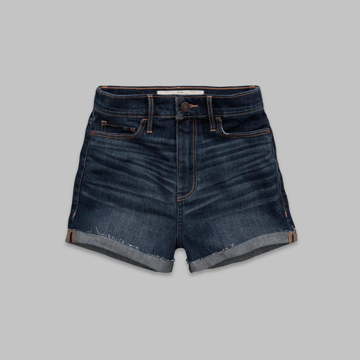 A&F Natural Waist Short Shorts