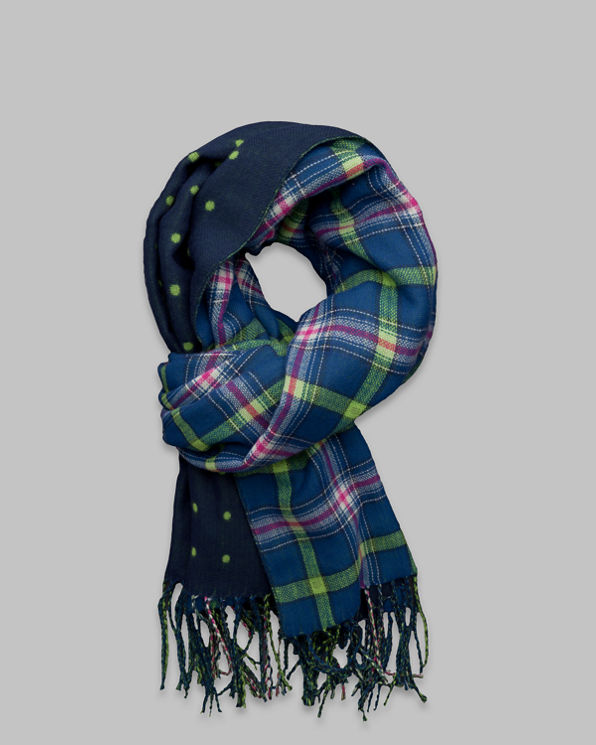 Womens Pretty Duofold Scarf