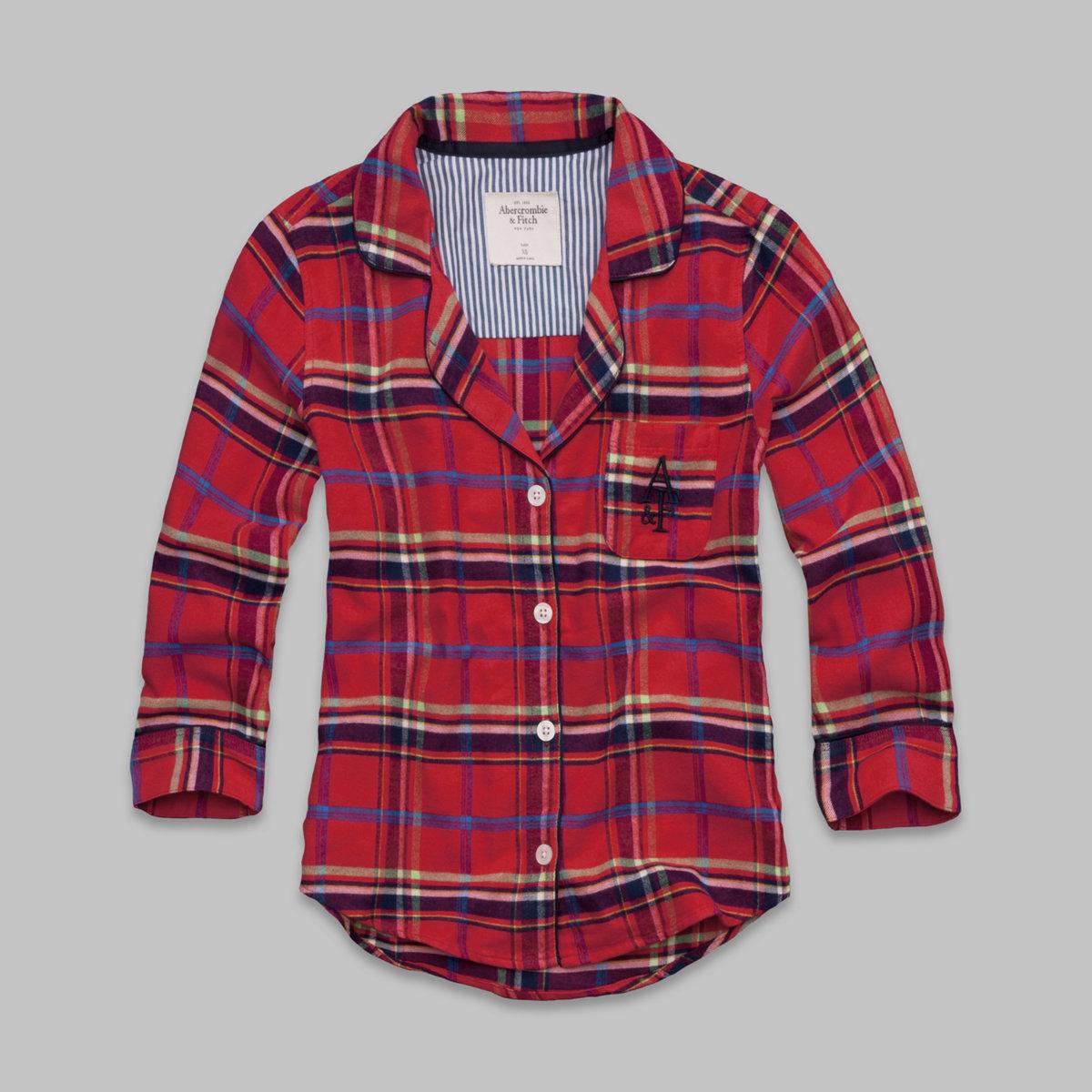 Britt Flannel Sleep Shirt