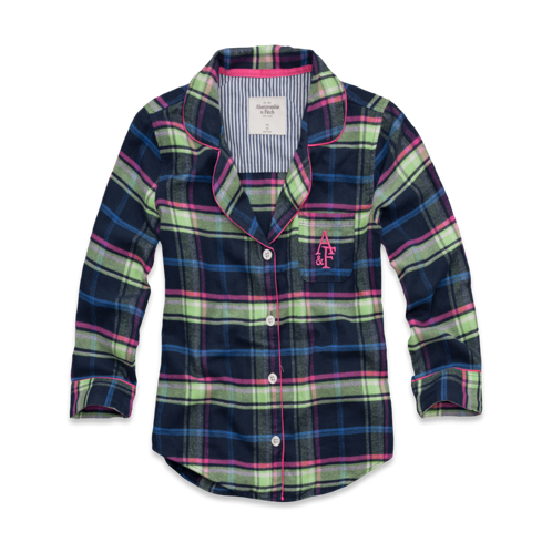 Womens Britt Flannel Sleep Shirt