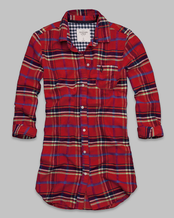 Womens Britt Flannel Sleep Dress