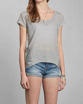 Womens Taylor Lace Back Top