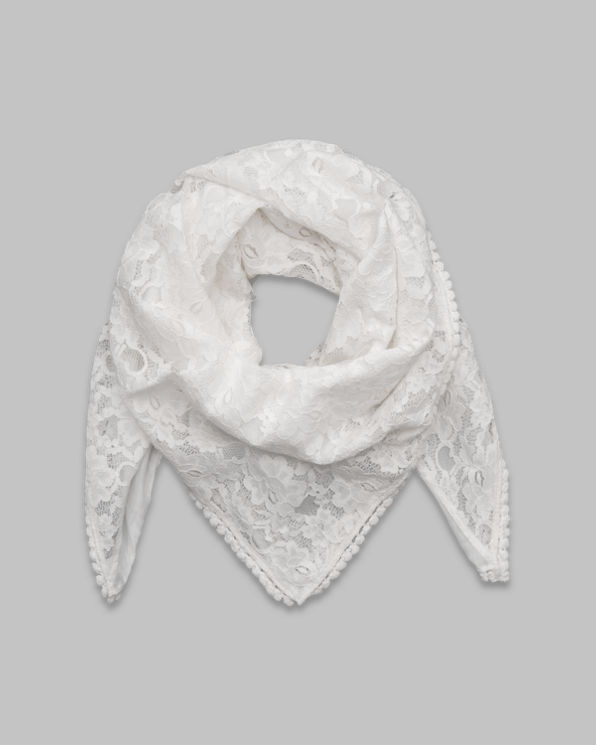 Womens Floral Lace Scarf