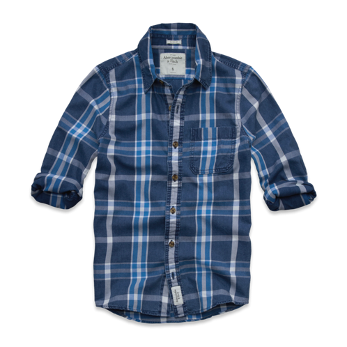 Mens Boundary Peak Indigo Shirt