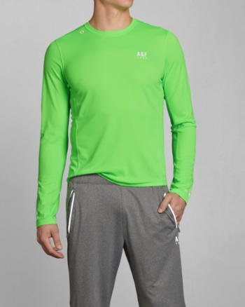 Mens A&F Active Base Layer Tee