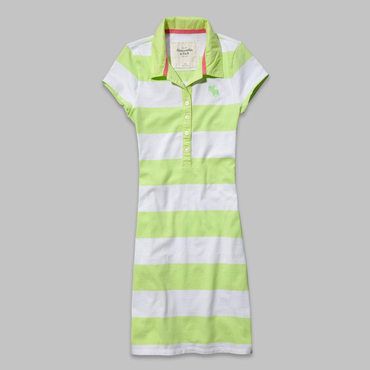 Micah Striped Polo Dress