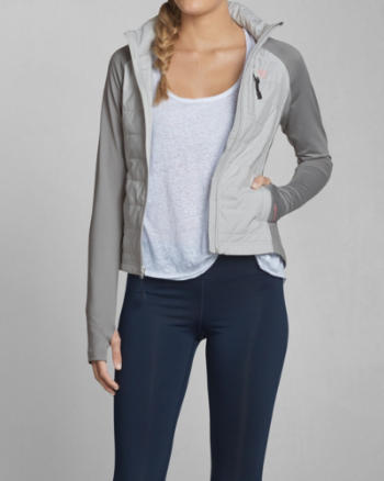 Womens A&F Active Lightly Filled Jacket