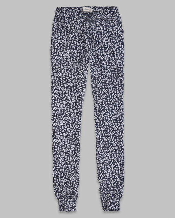 Womens Olivia Floral Drapey Pants