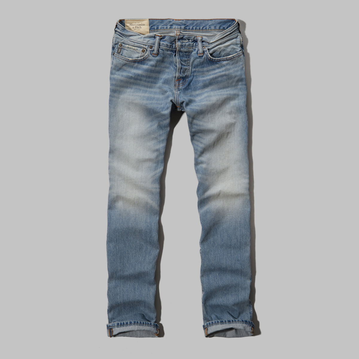A&F Slim Straight Button Fly Jeans