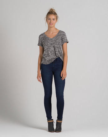 ANF A&F Alyssa Super Skinny High Rise Jeans