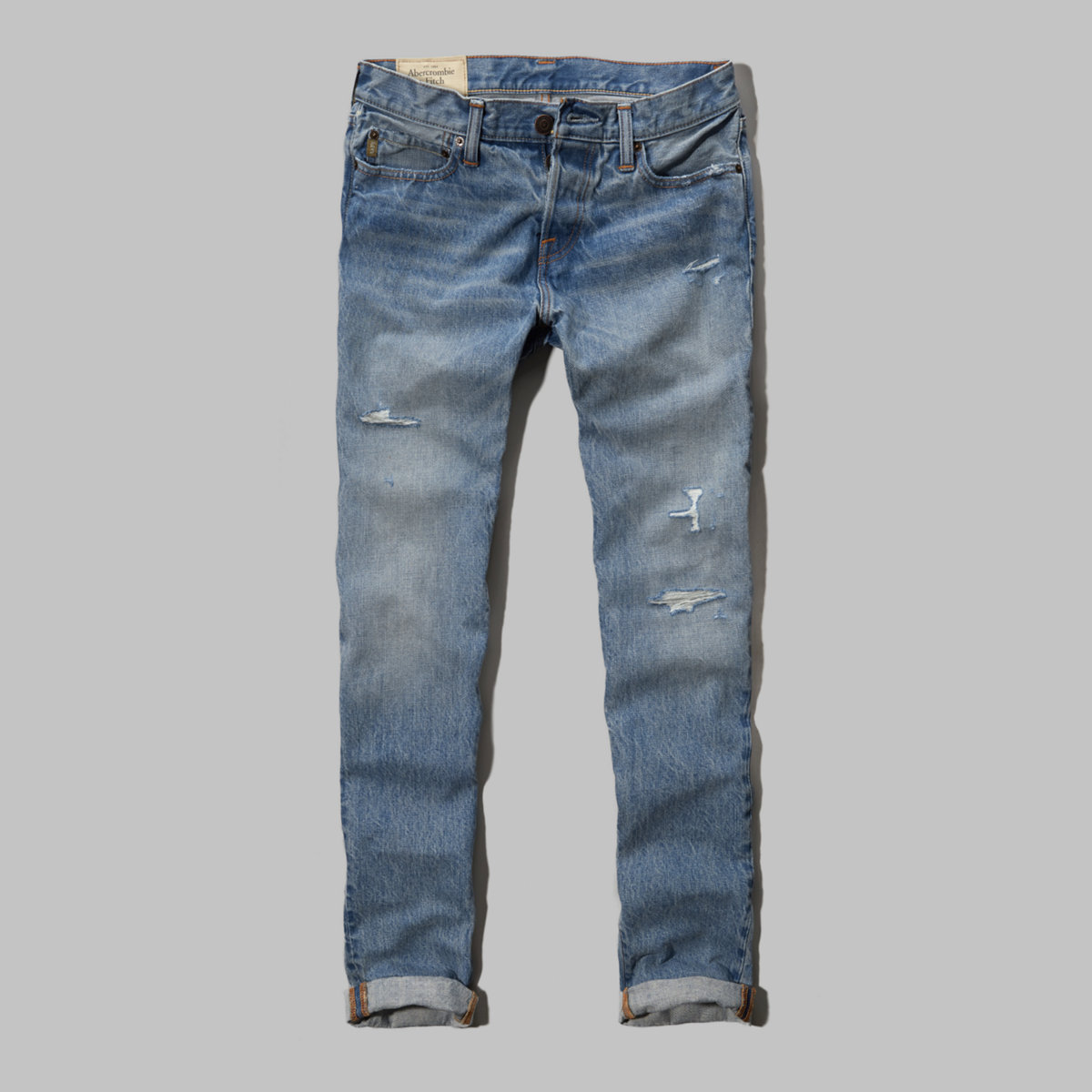 A&F Classic Taper Button Fly Jeans