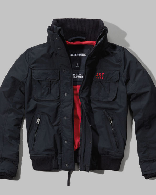 Mens A&F All-Season Weather Warrior Bomber