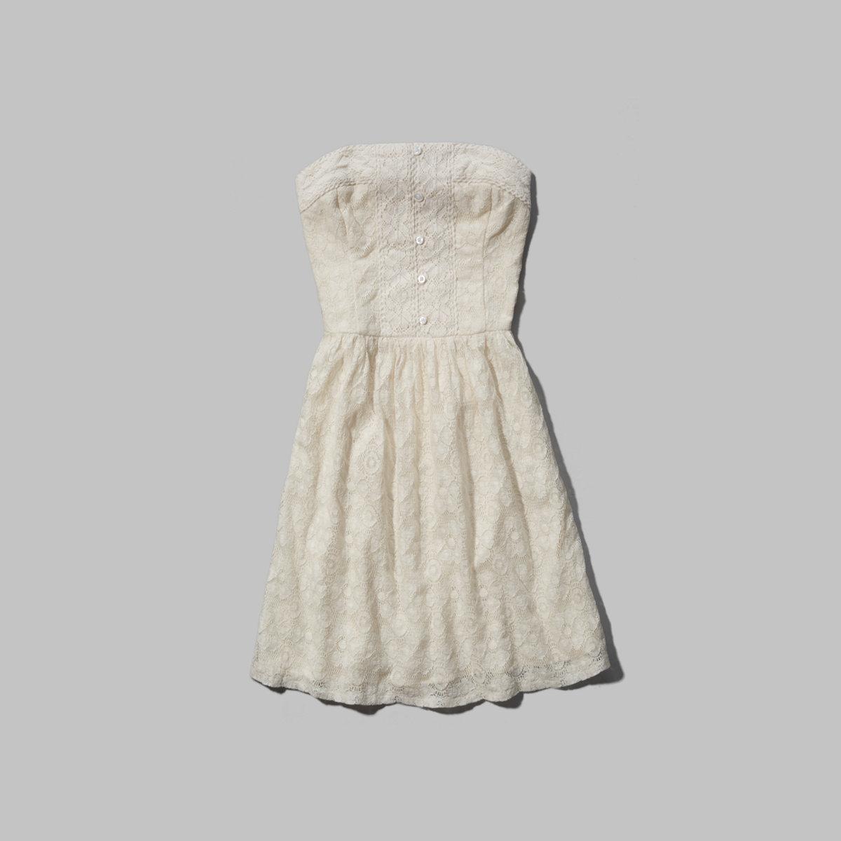 Tessa Strapless Lace Dress