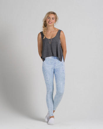 ANF A&F Cara High Rise Jean Leggings