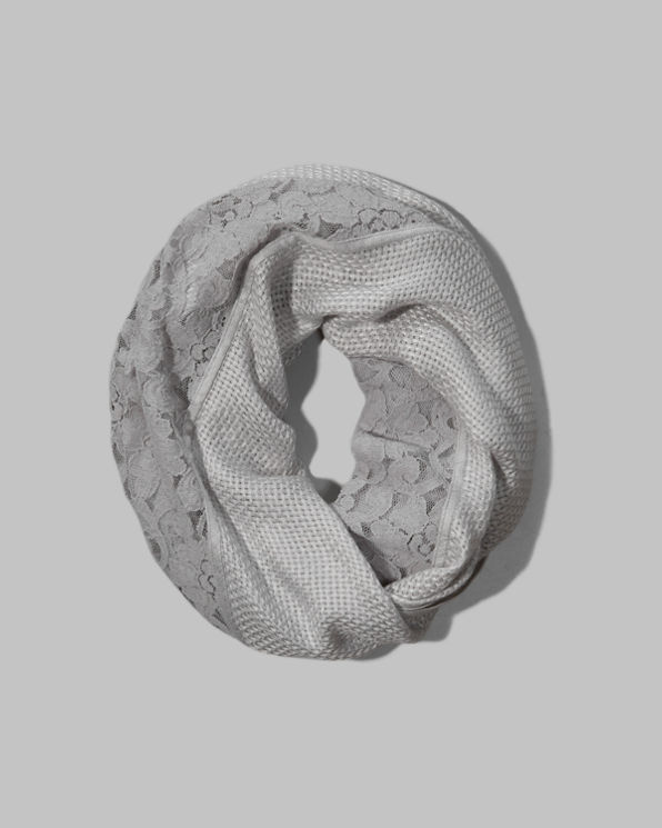 Womens Shine Lace Infinity Scarf