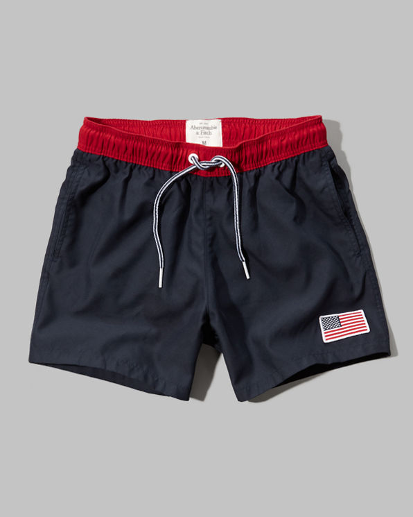 Mens A&F Campus Fit Swim Short