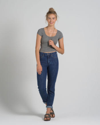 Womens A&F Allie Boyfriend High Rise Jeans
