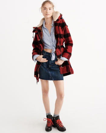 Womens Woolrich with A&F Cadet Wool Field Jacket