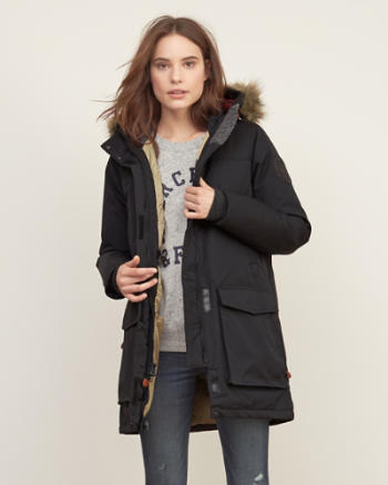 Womens Woolrich With A&F Patrol Down Long Parka