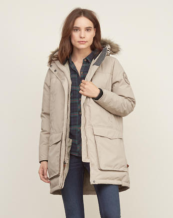 ANF Woolrich With A&F Patrol Down Long Parka