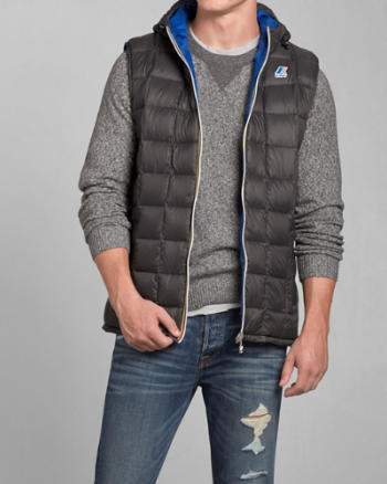Mens K-Way with A&F Lucas Thermo Plus Vest