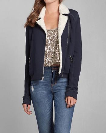 ANF Cass Fleece Moto jacket