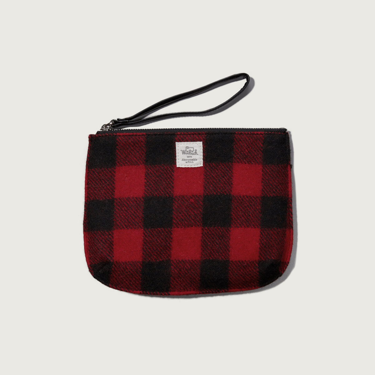 Woolrich with A&F Buffalo Check Wool Wristlet
