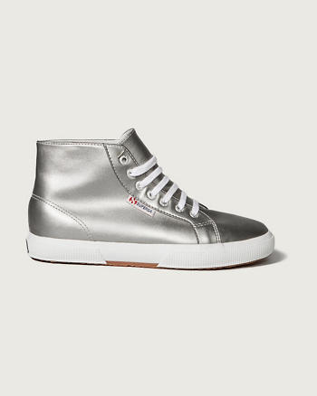 ANF Superga With A&F<br/>Silver High-Top Sneaker