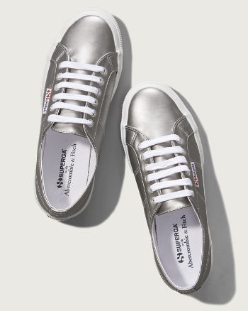 Womens Superga With A&F Silver Cotu Classic Sneaker