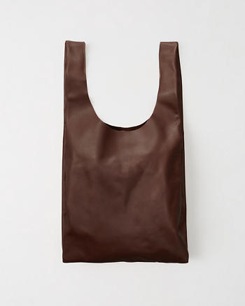ANF Leather Baggu Tote