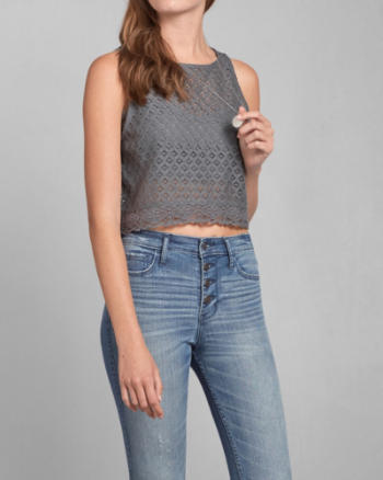 Womens Arielle Lace Top