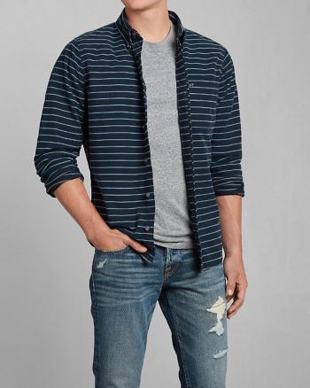 ANF Saranac Lake Striped Shirt